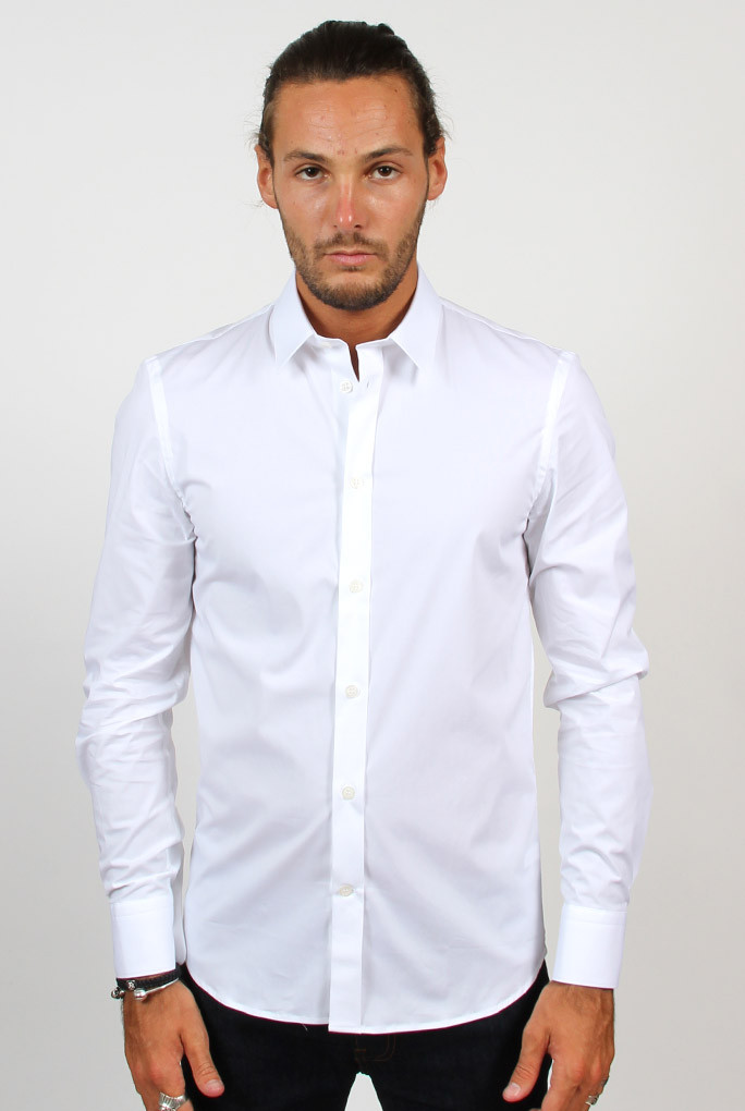 CHEMISE STRETCH FILIPPA K M. PAUL BLANCHE 2-11-14622 WHITE