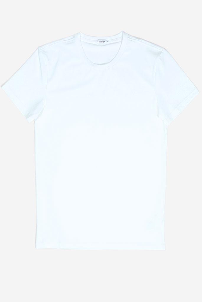 T-SHIRT COL ROND FILIPPA K BLANC M. SOFT LYCRA 10704-1009