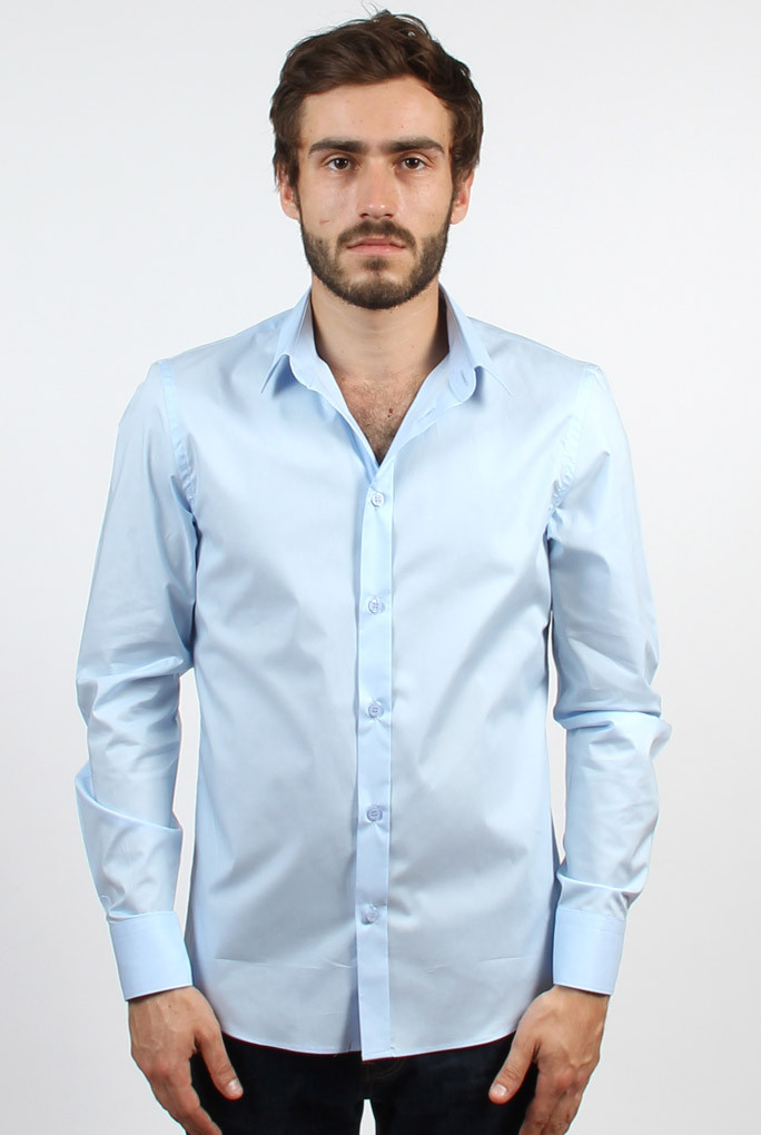 CHEMISE FILIPPA K BLEU CIEL MAN PAUL STRETCH SHIRT LIGHT BLUE 22844-1094