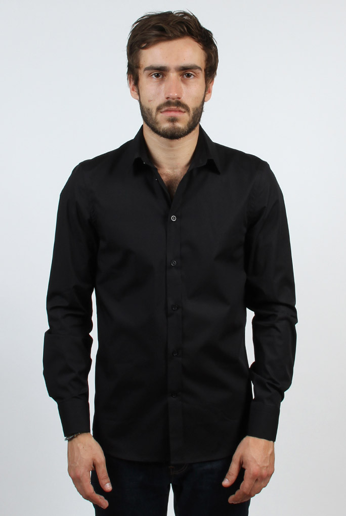 CHEMISE FILIPPA K NOIR MAN PAUL STRETCH SHIRT BLACK 22844-1433