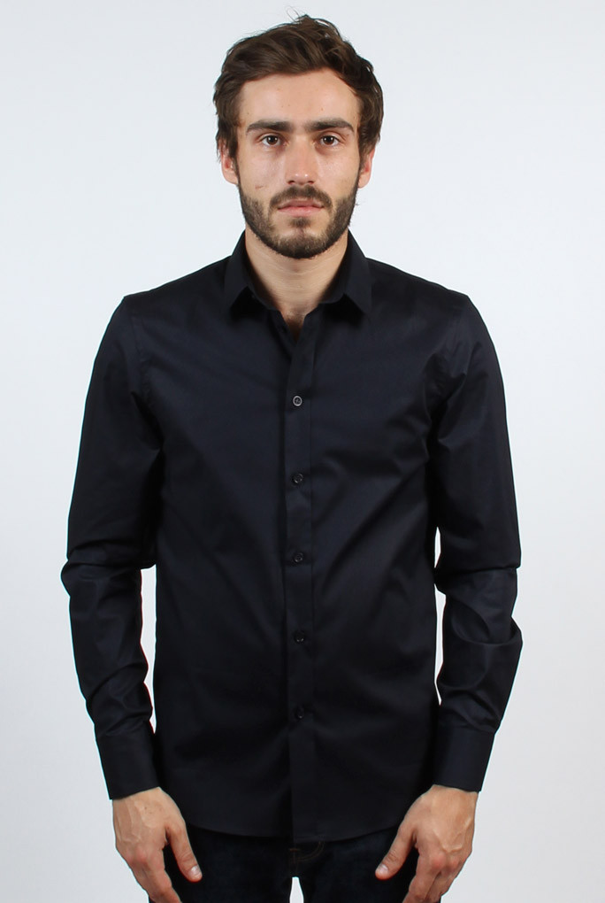 CHEMISE FILIPPA K MARINE MAN PAUL STRETCH SHIRT NAVY 22844-2830