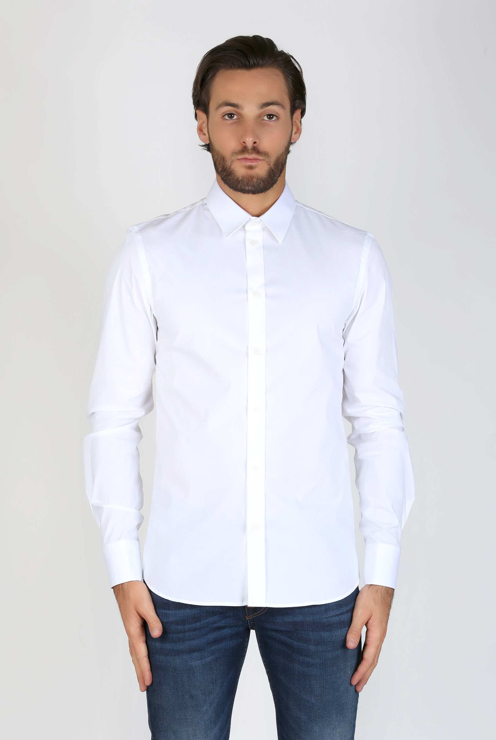 CHEMISE FILIPPA K BLANCHE MAN PAUL STRETCH SHIRT WHITE 22844-1009