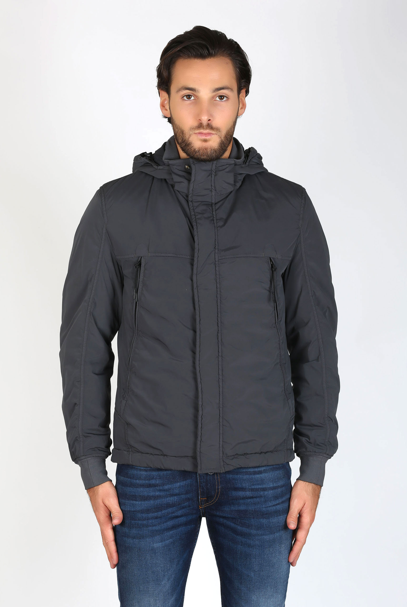 BLOUSON CP COMPANY GRIS GOGGLE JACKET 03CMOW002A001020G-968