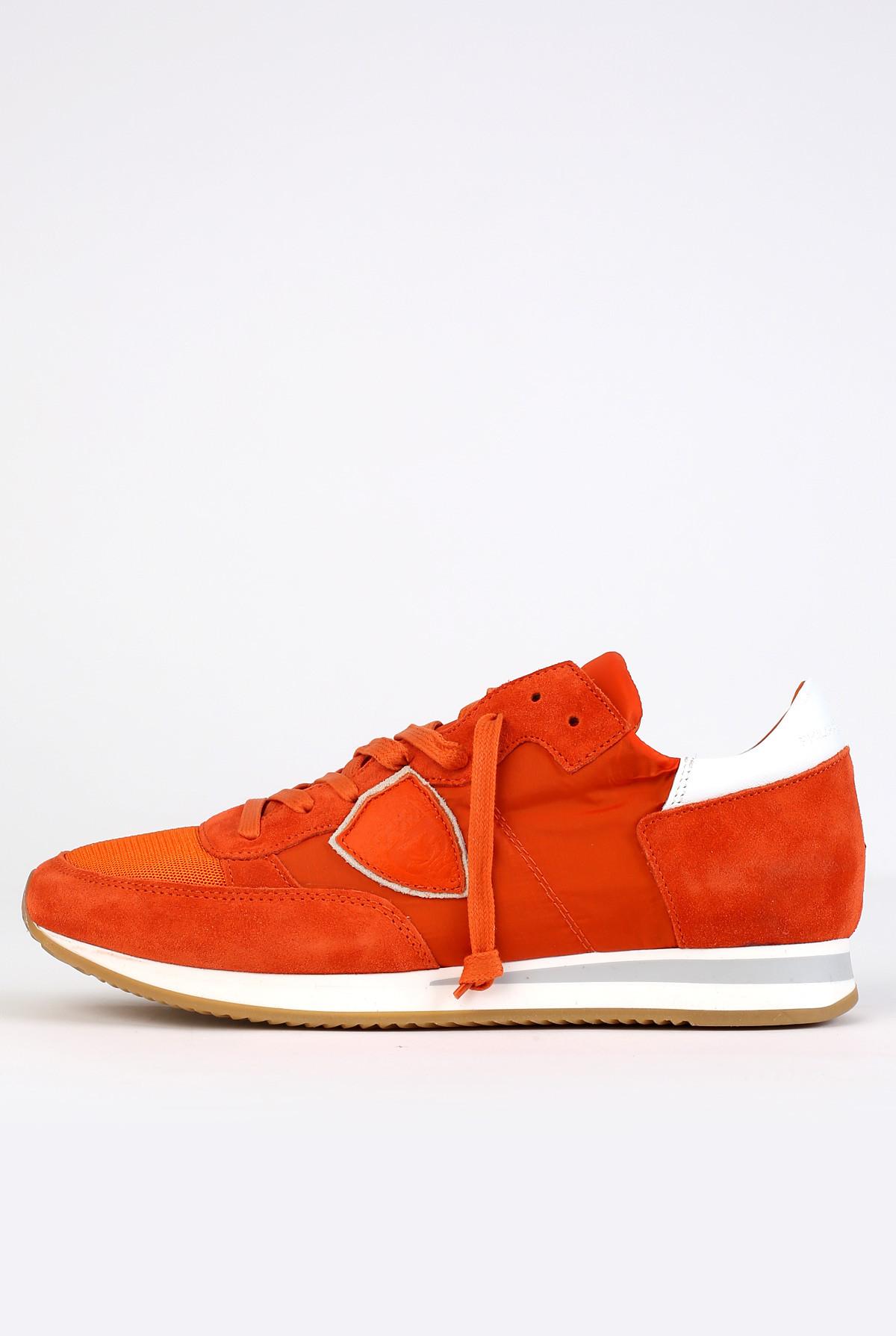 Baskets Tropez Orange, Modèle Philippe
