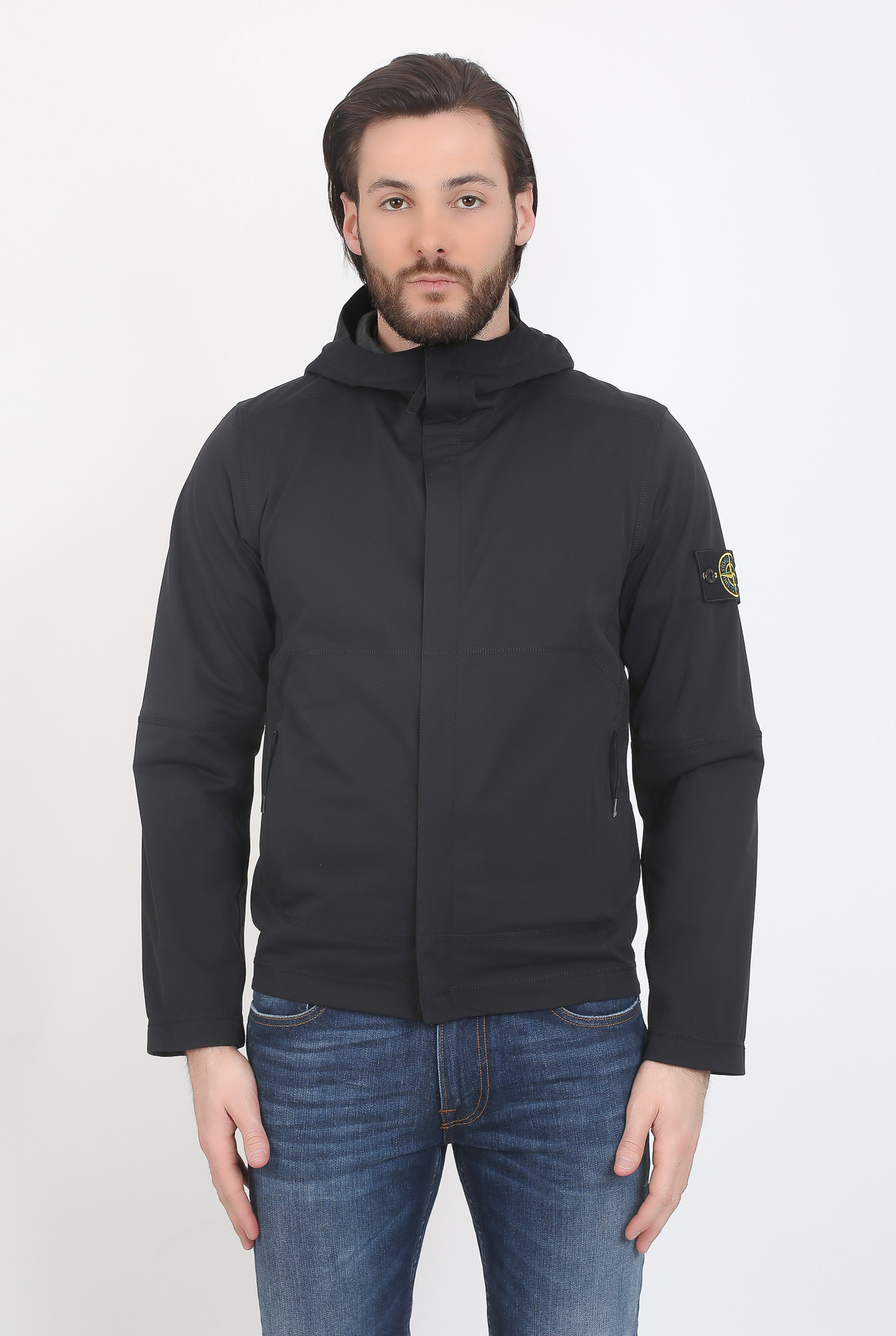 BLOUSON STONE ISLAND LIGHT SOFT SHELL NOIR 681542426-V0029
