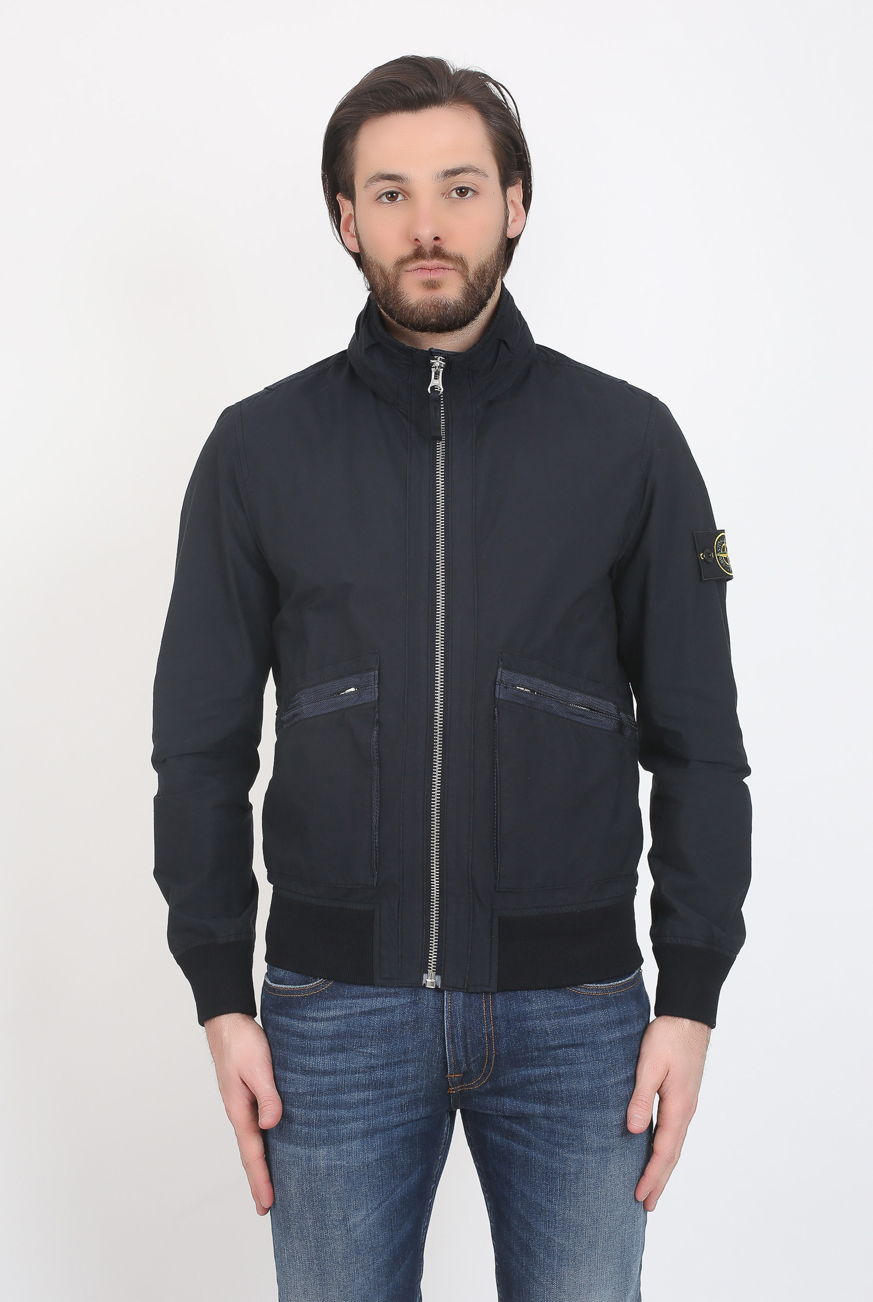 BLOUSON STONE ISLAND LIGHT COTTON NYLON TWILL MARINE 681543330-V0020