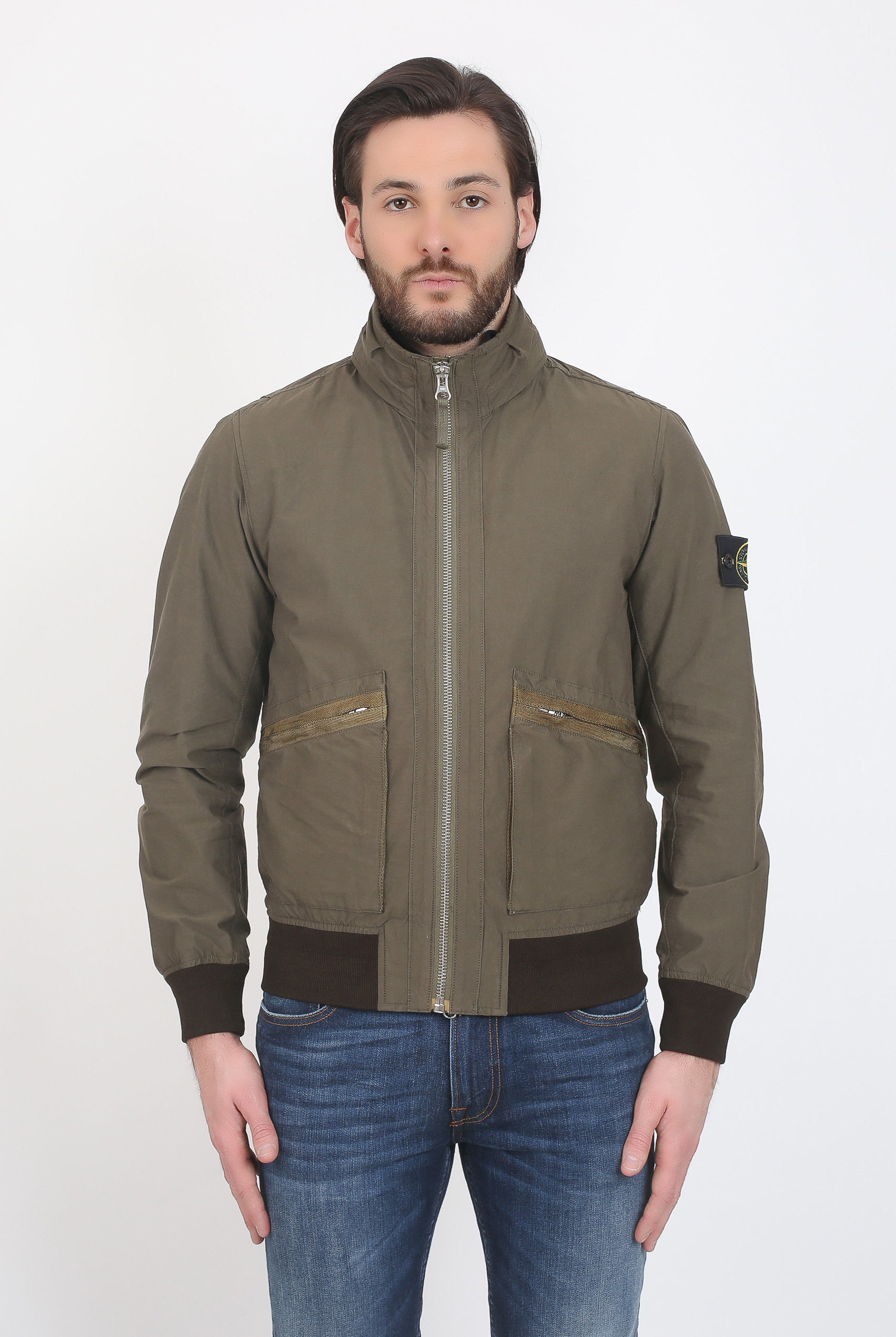 BLOUSON STONE ISLAND LIGHT COTTON NYLON TWILL KAKI 681543330-V0054