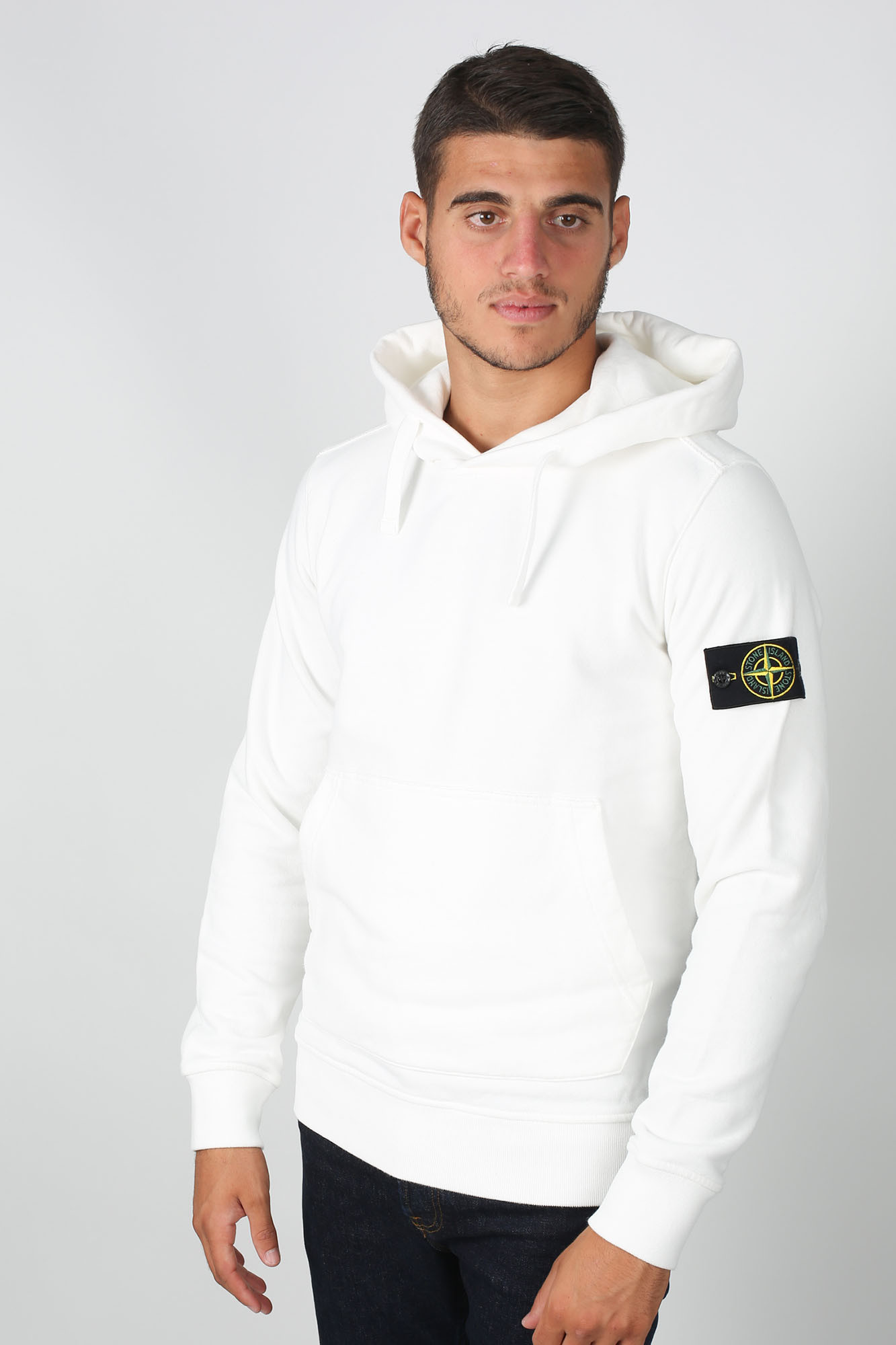 SWEAT-SHIRT STONE ISLAND BLANC 711562820-V0099
