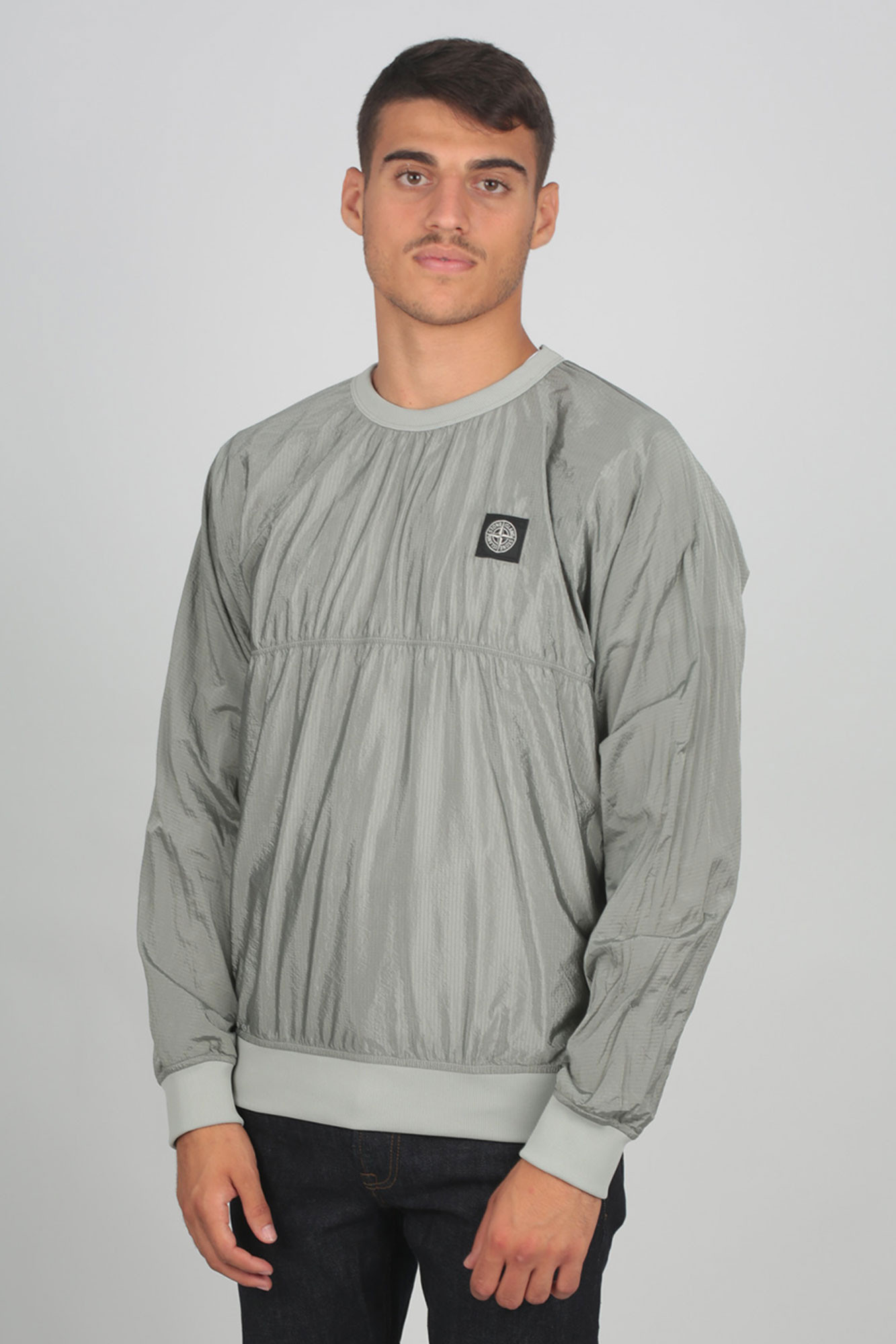 SWEAT-SHIRT STONE ISLAND GRIS 711563036-V0064