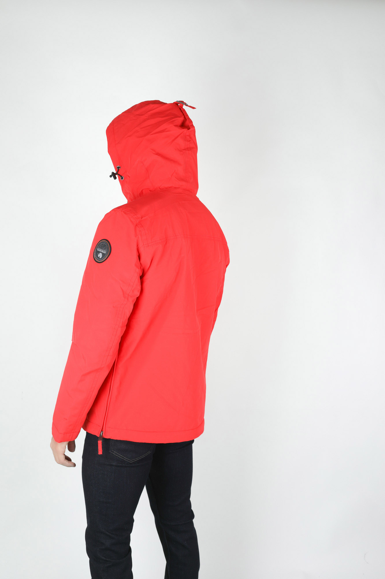VESTE RAINFOREST POCKET NAPAPIJRI ROUGE RAINFOPO-RED
