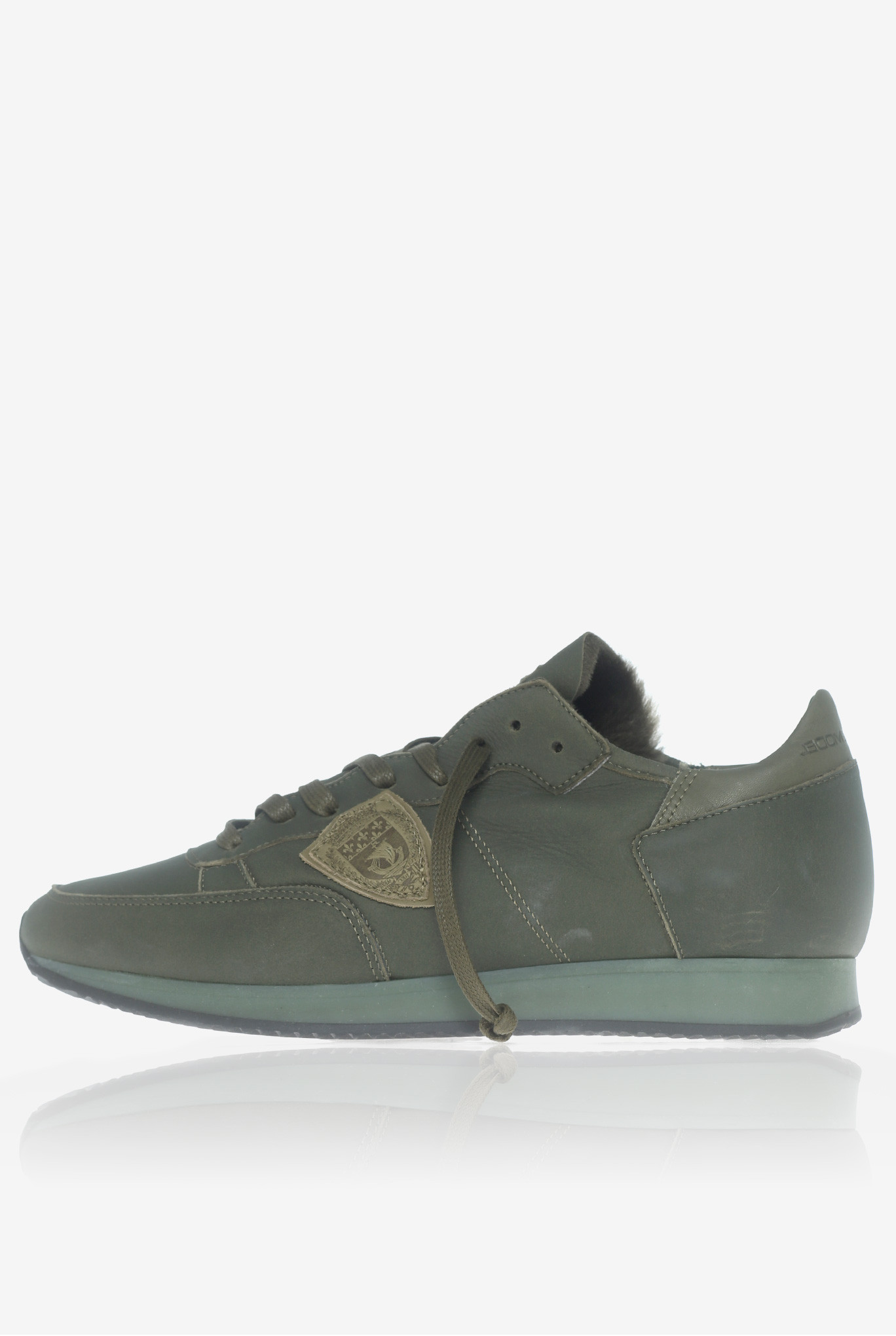 BASKETS PHILIPPE MODEL TROPEZ LOW UOMO MOUTON VERT TRLU-AM17